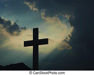 iluminado, cruz