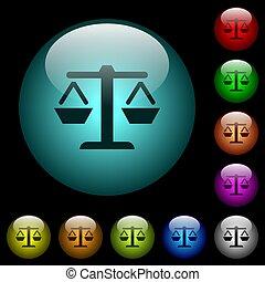 iluminado, peso, iconos, color, botones, vidrio, balance