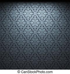 iluminado, tecido, papel parede