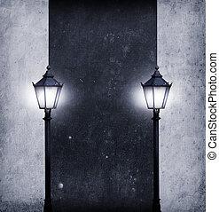 iluminado, texto, tábua, seu