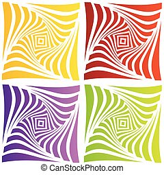 ilusão óptica, coloridos