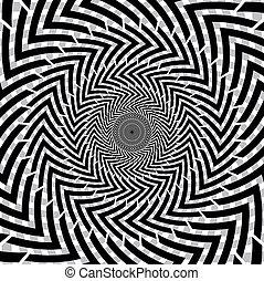 ilusão óptica, de, motion.