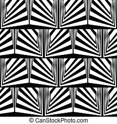 ilusão óptica, em, preto branco