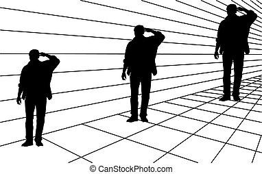 ilusão óptica, mesmo, tamanho