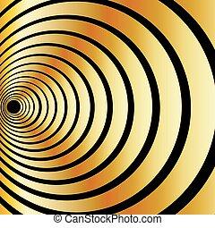 ilusão óptica, ouro