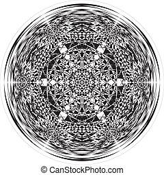 ilusão, abstratos, arcada, fundo, arabesco