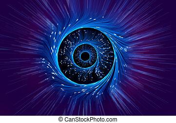 ilusión óptica, fibra