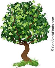 ilustração, árvore