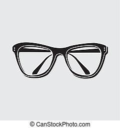 ilustração, óculos