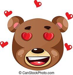 ilustração, amor, urso, experiência., vetorial, branca, sentimento