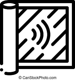 ilustração, audibility, esboço, grau, vetorial, ícone