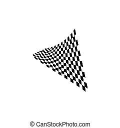 ilustração, bandeira, ícone, raça, desenho, vetorial