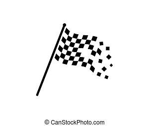 ilustração, bandeira, vetorial, automotif, correndo, ícone
