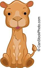 ilustração, camelo