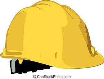 ilustração, capacete segurança, vetorial, trabalhadores