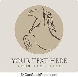 ilustração, cavalo, vetorial, símbolo