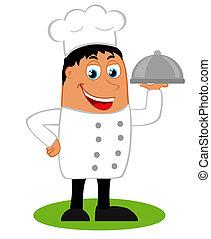 ilustração, cozinheiro