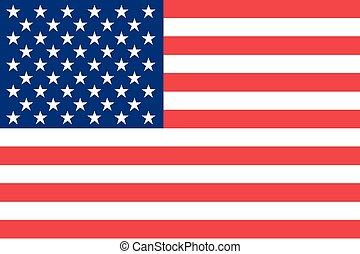 ilustração, de, a, bandeira estados unidos, de, américa