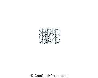 ilustração, de, a, vidoeiro, tronco, fundo