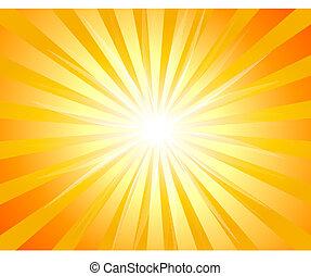 ilustração, de, bakckground, com, sunburst