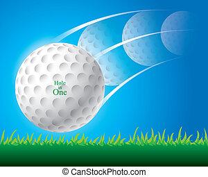 ilustração, de, bola golfe