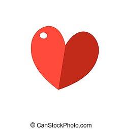 ilustração, de, coração