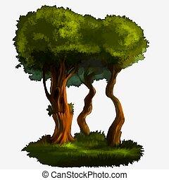ilustração, de, um, árvore.