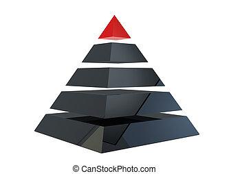 ilustração, de, um, piramide