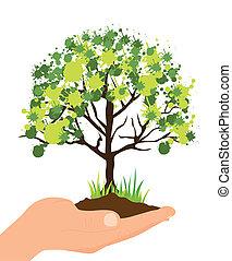 ilustração, ecológico