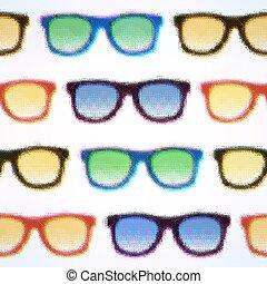 ilustração, eps10, editable., pattern., seamless, halftone, vetorial, hipster