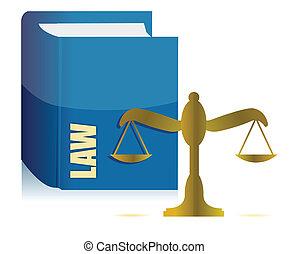 ilustração, equilíbrio, livro, lei
