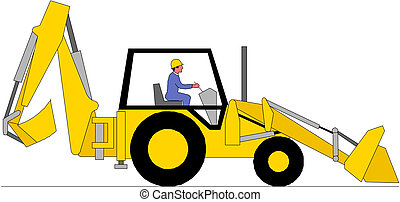 ilustração, escavador