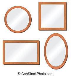 ilustração, espelhos