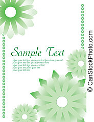 ilustração, experiência., vetorial, verde, floral