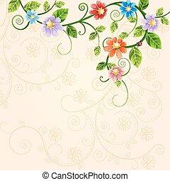 ilustração, floral