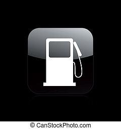 ilustração, isolado, ícone, vetorial, combustível, único