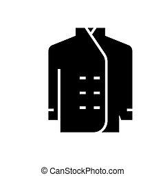 ilustração, isolado, sinal, cozinheiro, vetorial, experiência preta, ícone, vestido