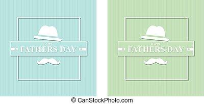 ilustração, jogo, feliz, hat., pais, bigode, dia, vetorial