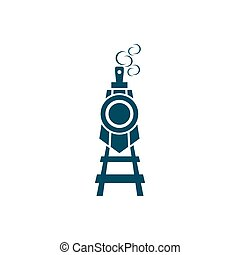 ilustração, logotipo, trem