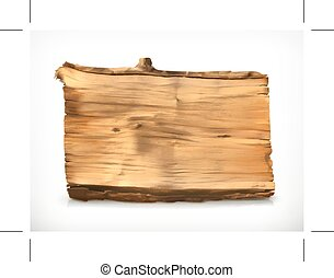 ilustração, madeira, bandeira