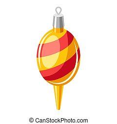 ilustração, natal, ball.