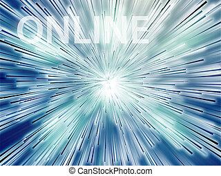 ilustração, online