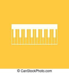 ilustração, piano, isolado, vector., ícone