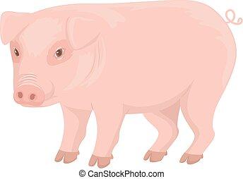 ilustração, porca