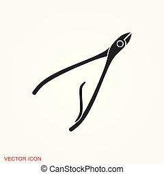 ilustração, símbolo, sinal, vetorial, desenho, manicure, logotipo, ícone