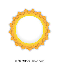 ilustração, símbolo, sol