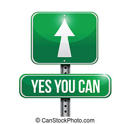 ilustração, sinal, desenho, lata, sim, tu, estrada