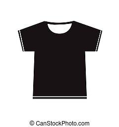 ilustração, sinal, tshirt, desenho, em branco, ícone