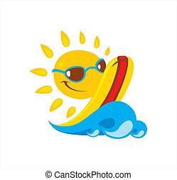 ilustração, sol