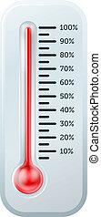 ilustração, termômetro